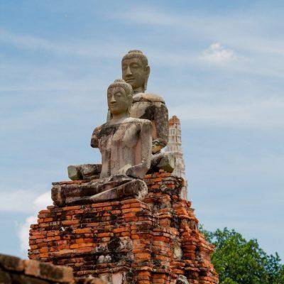 ภาพพระพุทธรูปที่เสียหายหลังเสียกรุงศรีอยุธยา